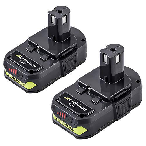 2 Packs 18 Volt 3.0Ah P102 Battery Replacement for Ryobi 18V Battery Lithium Compatible with Ryobi 18v One+ P103 P104 P105 P107 P108 P190 P122 Batteries