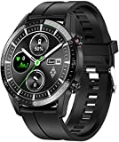 anmi smartwatch uomo,orologio uomo smartwatch ip68, orologio fitness, smartwatch touchscreen con cardiofrequenzimetro, orologio sportivo uomo per ios android samsung huawei(nero)