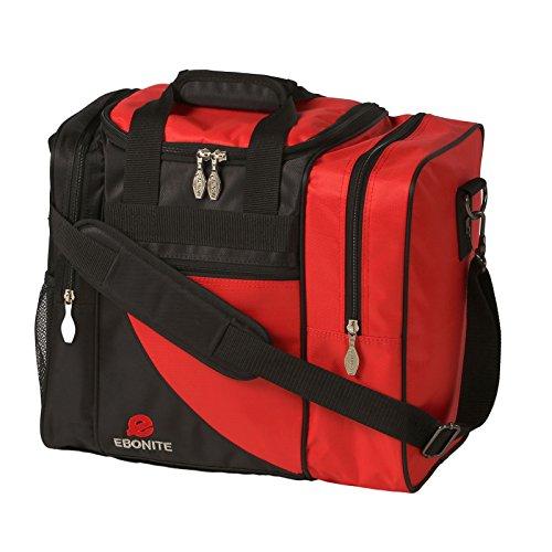 Ebonite Bowling Bag, stoßfest, Schwarz/Rot