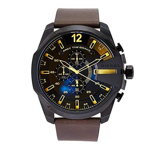 Diesel Reloj Cronógrafo para Hombre de Cuarzo con Correa en Cuero DZ4401