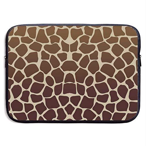 Laptop Case Dark Giraffe Print Laptop Sleeve Protective Case Water-Resistant Neoprene Briefcase 15 Inch