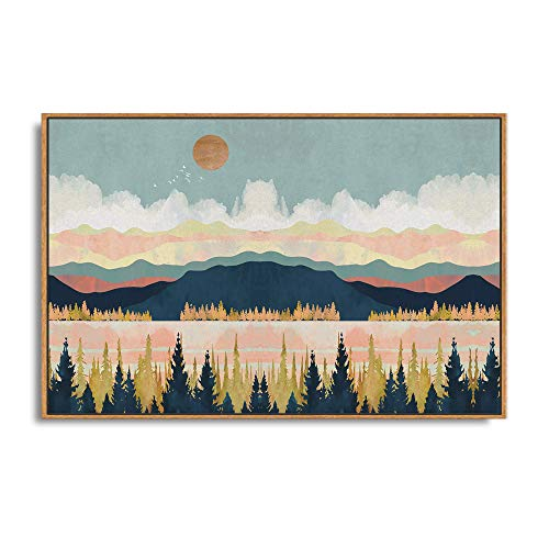 SIGNFORD Framed Canvas Home Artwork Decoration Abstract Mountain Nature Scenery Canvas Wall Art for...