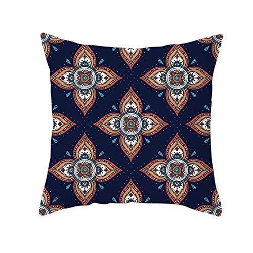 Cushion Pad Textiles Stuffer Flower Ethnic Blue Soft Solid Pillow Insert Polyester For Home Sofa Bedroom Bed Car Livingroom Couch Decorative Cozy Washable Christmas Indoor & Outdoor C9544 45X45Cm