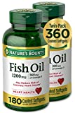 OMEGA 3S: Each serving of Nature's Bounty Fish Oil 1200 milligram soft gels contains 360 milligram of Omega 3s. Nature's Bounty Omega 3s are comprised of EPA and DHA that helps support and maintain the health of your cardiovascular system. This odorl...