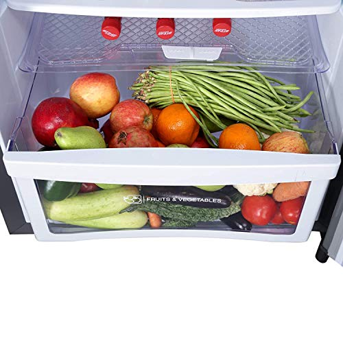 Godrej 236 L 2 Star Inverter Frost-Free Double Door Refrigerator with jumbo vegetable tray (RF EON 236B 25 HI SI ST, Stainless Steel)