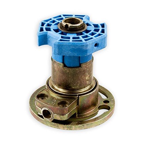 DIWARO® K028 Rolladengetriebe | Untersetzung 3:1 links | Antrieb 6mm Innenvierkant | Kurbelgetriebe, Kegelradgetriebe für SW 60 Rolladen Stahlwelle im Rolladenkasten