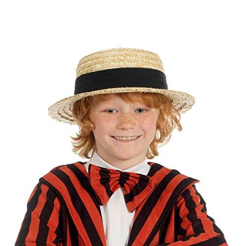 Chapeau de Paille de qualite pour enfant style plaisancier gondolier