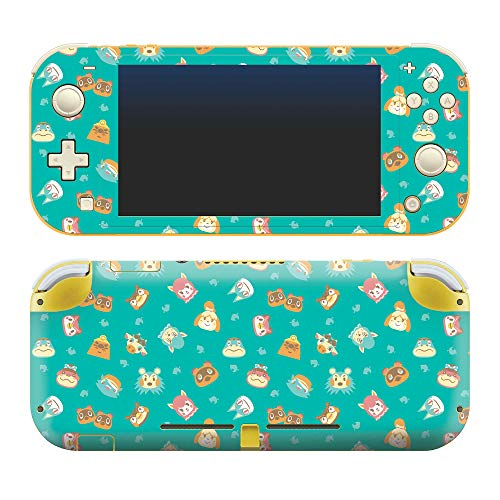 Controller Gear Authentic and Officially Licensed Animal Crossing: New Horizons - Teal Icons - Nintendo Switch Lite Skin - Not Machine Specific