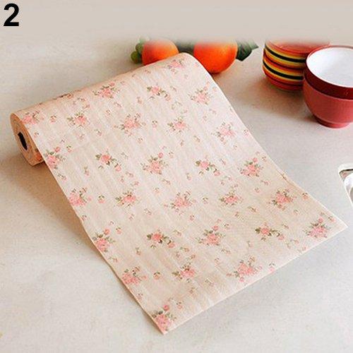 Dyyicun12 lade liner keuken tafel mat schattig polka stippen plank papier kast 300 cm Pink Flower