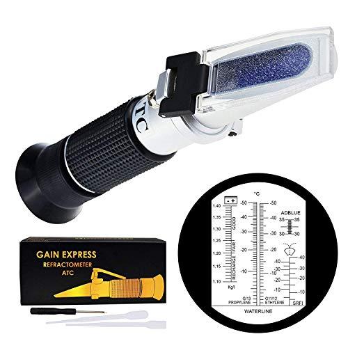 GAIN EXPRESS 6-in-1-Auto Refraktometer ATC für Adblue/Frostschutz-/Batteriesäure
