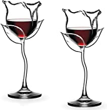 Pazalor Weißweingläser aus Rotweingläser Weißweinglas, Weingläser mit langem Stiel, Kreative Rosenform, Elegante und Schli...