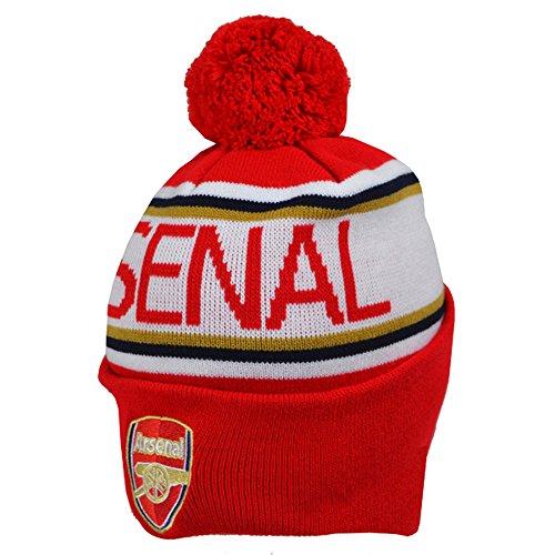 FC Arsenal London gestrickte Bommelmütze Rot mit rotem Bommel