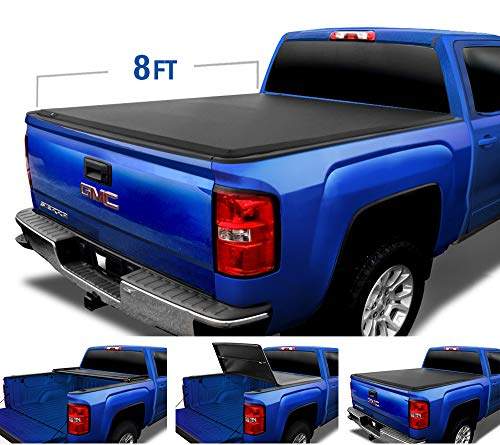 Tyger Auto T3 Tri-Fold Truck Bed Tonneau Cover TG-BC3C1010 works with 1988-2006 Chevy Silverado / GMC…