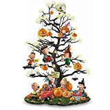 Illuminated Halloween Tree,It's The Great Pumpkin Illuminated Halloween Tabletop Tree,Creative Pumpkin Resin Led Light,Artificial Mini Halloween Tree Light,for Christmas Decorations (With light)