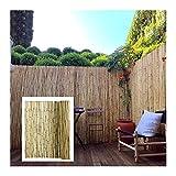 GDMING Valla De Bambú Pantalla De Privacidad del Balcón Durable Al Aire Libre Parabrisas Protección contra El Viento Y El Sol Natural Jardín Porche Patio Cubrir, 12 Tamaños