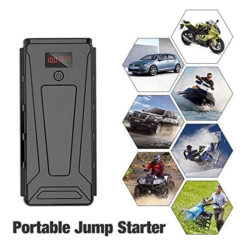 Rzj-njw 22000 mAh bewegende auto-jumpstarter (8,0 l benzine/6,5 l dieselmotor), 12 V auto-accu-booster met dubbele USB-smart-laadaansluiting en led-zaklamp