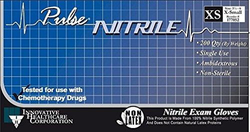 Innovative Healthcare Pulse Nitrile PF Exam Gloves, Powder-Free, Non-Sterile (Small)