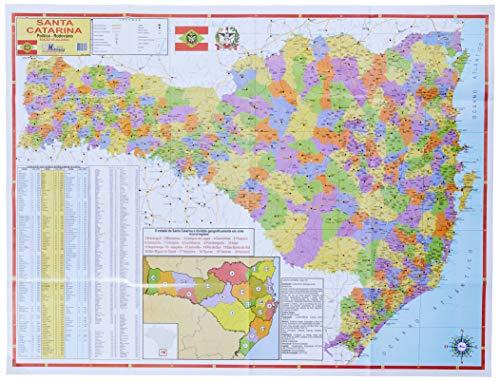 Mapa Escolar Estado de Santa Catarina x 1 Unidade, Multimapas 258, Multicor, Pacote de 1