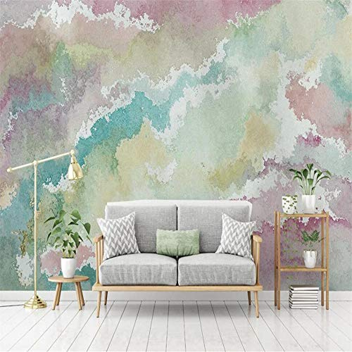 Custom 3D Wallpaper Mural Nordic Abstract Beautiful Watercolor Ripple Art Background Wall For Living Room Bedroom Decorat-350 * 245 Cm