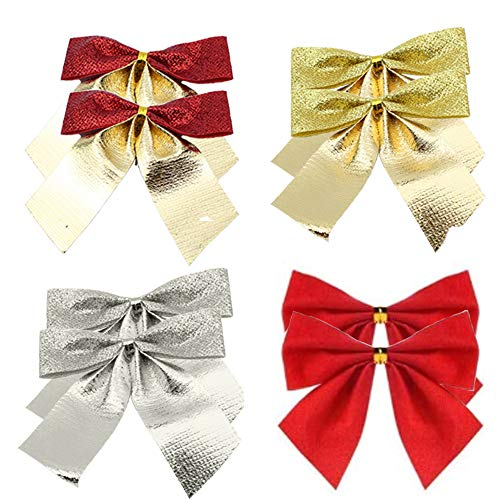 Sweieoni 96 Piezas Arcos de Navidad Corona de Navidad Decoración Decoración de Regalo Adornos Árbol de Navidad para Boda Fiesta de Cumpleaños4 Colores