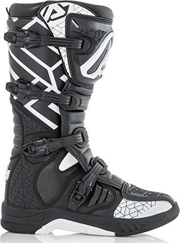 Acerbis X-Team - Botas de motocross, color dorado y blanco
