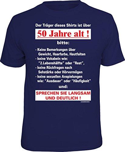 RAHMENLOS Original T-Shirt zum 50. Geburtstag: Der Träger Dieses Shirts ist über 50 Jahre alt - Größe L, Nr.4237