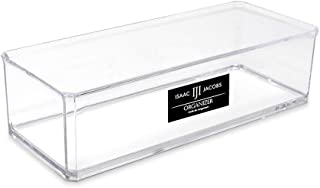Isaac Jacobs Clear Acrylic Rectangular Stackable Storage Organizer