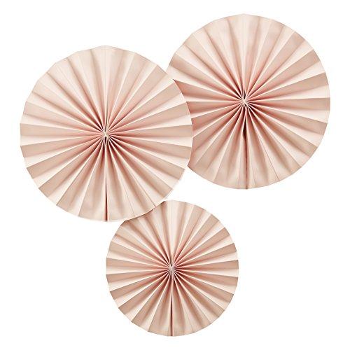 Ginger Ray Papierfächer, pastellrosa