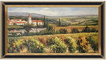 Hand Painted 24 X 48 Canvas Oil Painting For Wall Art Decor Italian Style Tuscany Vineyard Oil Painting 55 5 X 31 5 Mahogany Other Frame Options Available Posters Prints