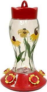 Heath Outdoor Products HUM140 Bloomin' Susan's Glass Hummingbird Feeder