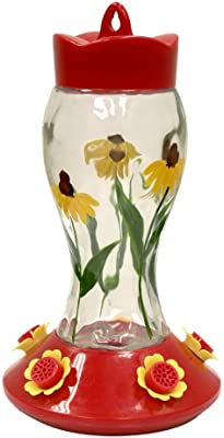 Heath Outdoor Products HUM140 Bloomin' Susan's Glass Hummingbird Feeder