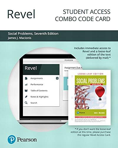Revel for Social Problems -- Combo Access Card (7th Edition)