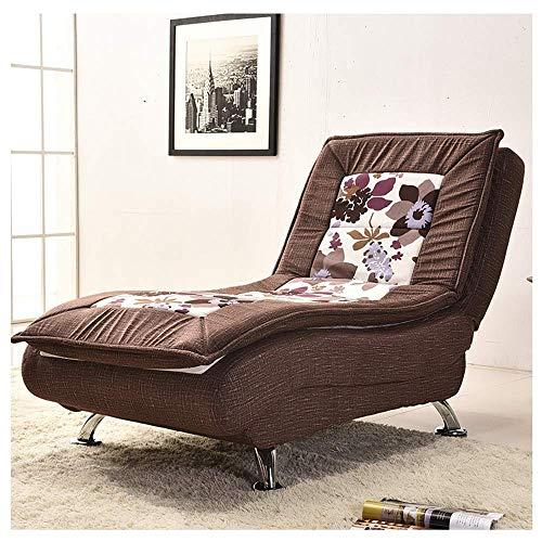 Tragbares Sofa Sofastuhl Verstellbares Schlafsofa Lazy Couch Schlanke, Minimalistische, Waschbare, Einzelne Stoffsofa Schlafzimmer Wohnzimmer Bequeme Liege 72 × 175 cm (Farbe: Braunes Muster)