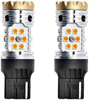 LASFIT 7440 Anti Hyper Flash Canbus LED Turn Signal Light W21W WY21W Blinker Bulbs, No Load Resistor Need, Upgraded Intell...