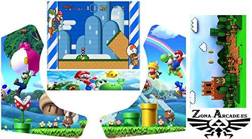 Zona Arcade Vinilo para recreativa bartop (Super Mario)