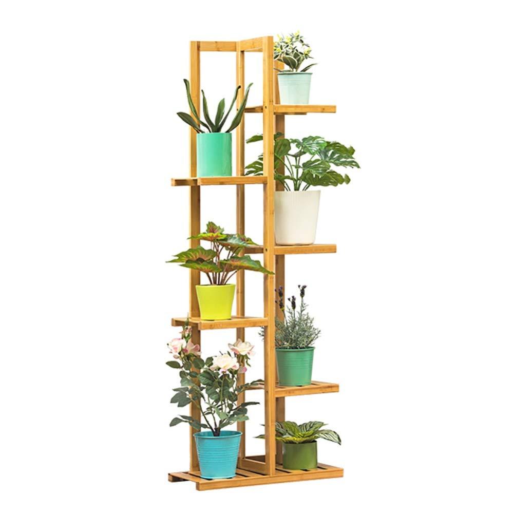 Soportes para Plantas- Bambú Natural del Soporte De La Planta De 6 Gradas, Titular De La Planta De Flores Escalera para Múltiples Plantas: Amazon.es: Hogar