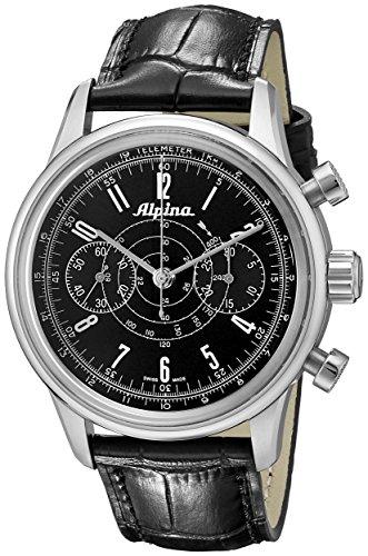 Alpina Men's AL-435LB4SH6 Analog Display Swiss Automatic Black Watch