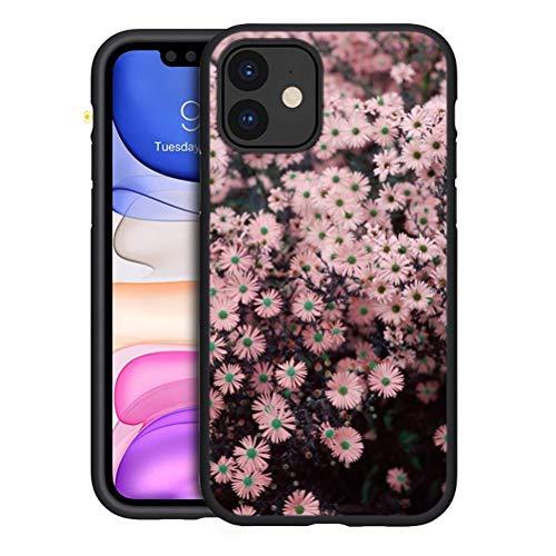 Pnakqil Hülle Kompatibel mit Samsung Galaxy A32 5G 6,5 Zoll, Matt Schwarz Weiche Silikon TPU Superdünne Hülle mit Muster Motiv Handyhülle Stoßfest Schutzhülle Cover für Samsung A32 5G, Gänseblümchen