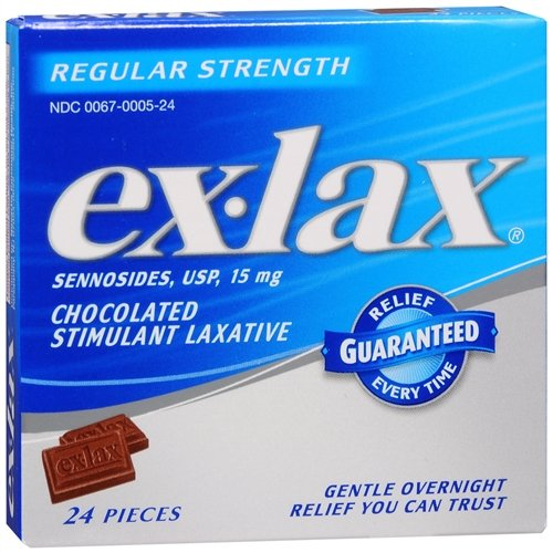 ex-lax Chocolated Stimulant Laxative, Chocolate 24 ea(Pack of 2)
