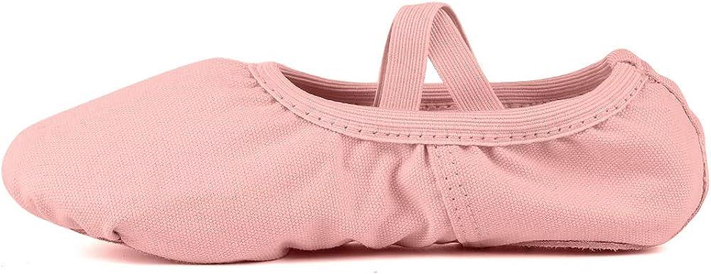 DKZSYIM Women's&Girls Ballet Dance Shoes/Slipper/Yoga/Gymnastics Flat Split Sole Shoes, SJK