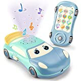 LOVE LIFE Baby Cell Phone Toy, Adjustable Volume Baby Musical Car Toys, Learn Pretend Phone for Infant, Toddler Preschool Birthday Gift for Boy Girl 6+ Months