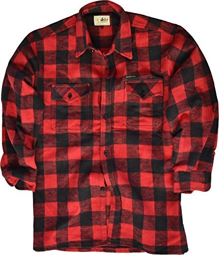 Holzfäller Hemd / 100% Cotton / dicke Qualität / S - 3XL Farbe rot/schwarz Größe XL by Mc Allister