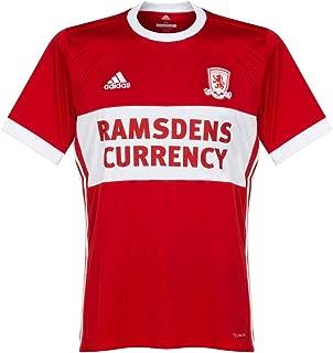 adidas 2017-2018 Middlesbrough Home Football Soccer T-Shirt Jersey