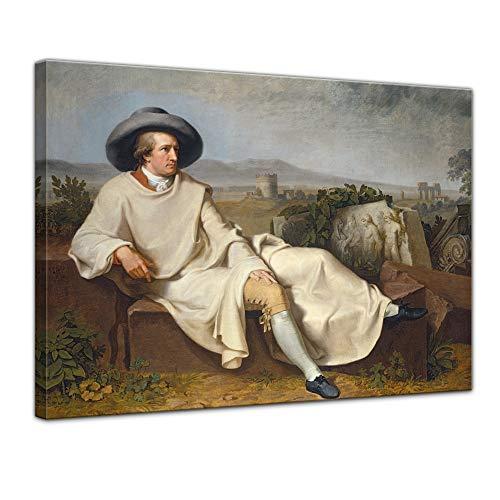 Wandbild Goethe in der Campagna - 60x50cm quer - Leinwandbild Kunstdruck Bild auf Leinwand Gemälde - Berühmtheiten & Zeitgeschichte