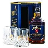 Jim Beam Double Oak Bourbon Whiskey Christmas Gift Set