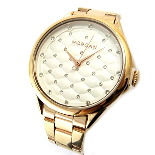 Morgan [N9864] - Designer-Uhr 'Morgan' rotgold (Beleuchtung).