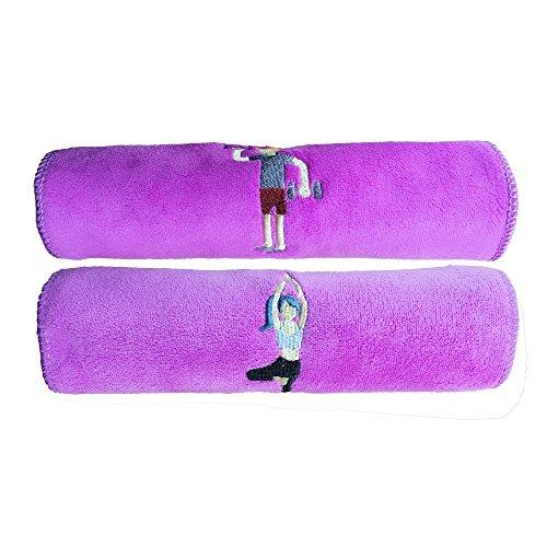 Koppels Sport Microfiber Handdoek, 2 Pack Quick Dry Outdoor Super Absorbent Washandje, Nanometre Ultrafine Stof Lichtgewicht & Compacte Handdoeken voor Gym Reizen Camping Strand Zwem Fitness Yoga Rugzak