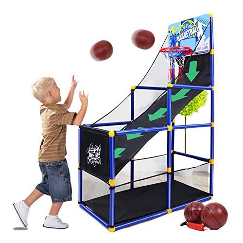 Canasta Tableros de Baloncesto Juego de Aro de Baloncesto Arcade Plegable, Juguetes para Niños de Interior y Exterior Sistema de Entrenamiento Tiro de Baloncesto para Niñas de 3 a 10 Años