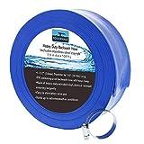 POOLWHALE 1-1/2' x 100' Economy Blue Backwash...