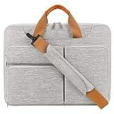 Lacdo 360° Protective Laptop Shoulder Bag Sleeve Case for 16...